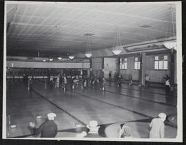 Civil service curling club - looking down the ice