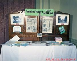 """Recreational Therapy at Camp Easter Seal"" Display"