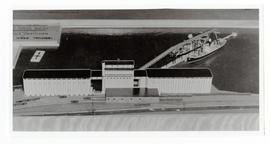 Model of the terminal grain elevator for the Saskatchewan Wheat Pool at North Vancouver