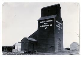 Bulyea's first elevator built by the Saskatchewan Wheat Pool